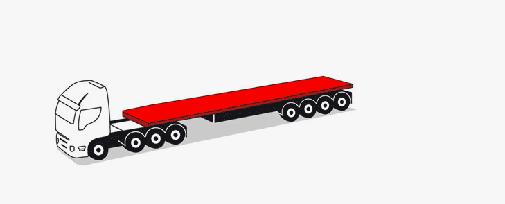 28-meter articulated lorries for indivisible loads up to 67 tonS