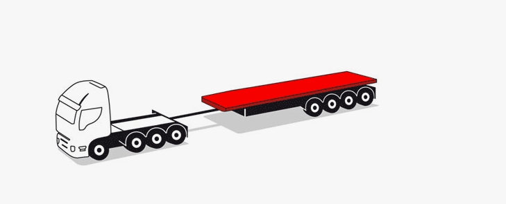 lorries with siloxable thrust rings and rudders to 21 meters up to 72 tons