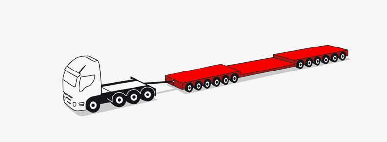 12-axle modular trailers up to 110 tons