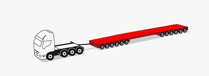 rimorchi modulari a 12 assi (6+6) fino a 150 tonnellate