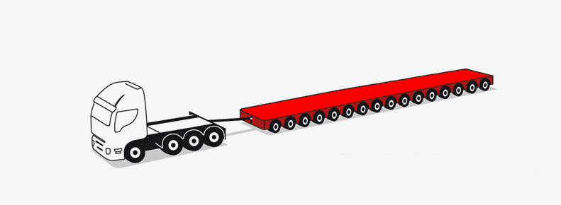 4/16 axle modular trailers up to 270 tons