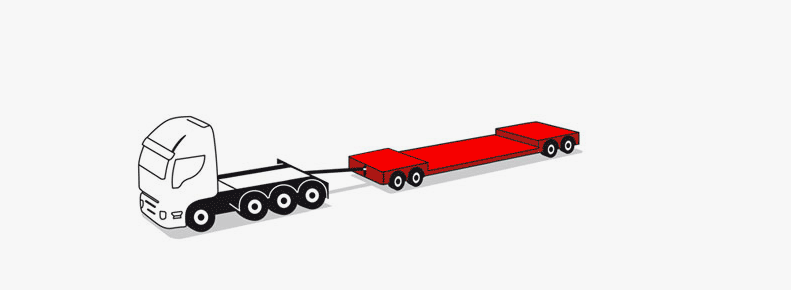 4 axle modular trailers up to 55 tons