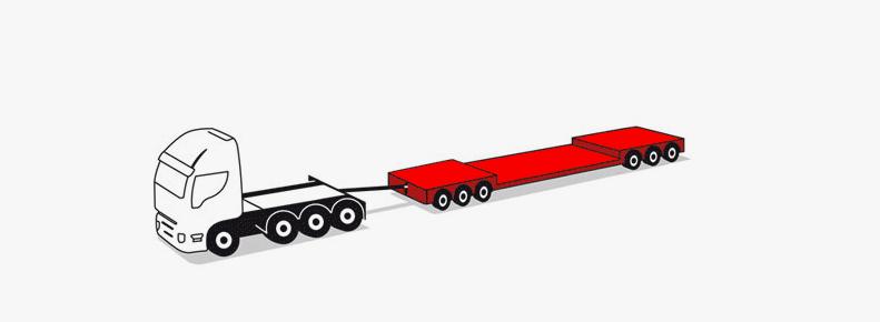 70-ton 6-axle modular trailers