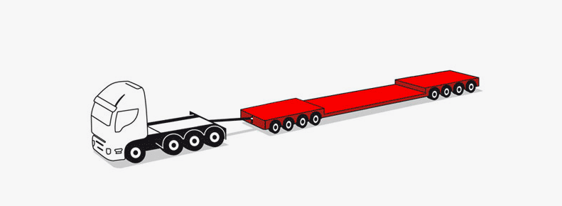 8-axle modular trailers up to 90 tons