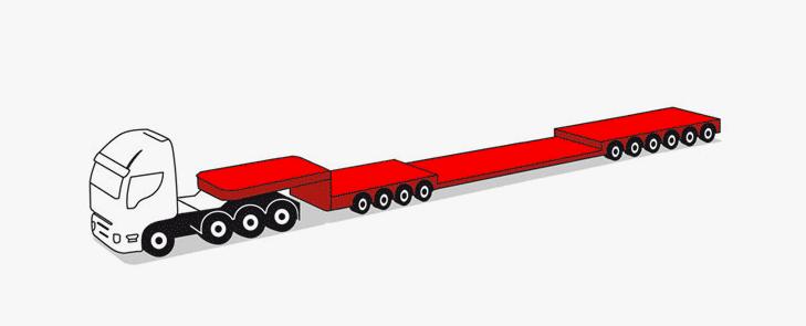 semirimorchi modulari componibili 10 assi fino a 177 tonnellate