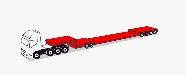 semirimorchi modulari componibili 6 assi fino a 105 tonnellate